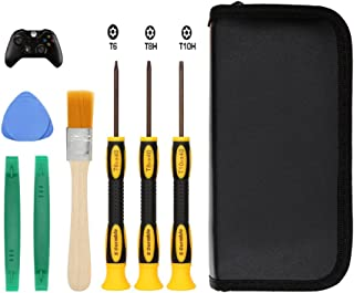 E.Durable T8 T6 T10 Screwdriver Set for Xbox One Xbox 360 Controller and PS3 PS4, Safe Prying Tool and Cleaning Brush