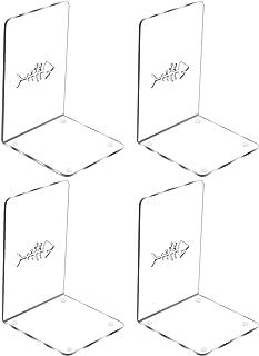 4 قطع من لوونبون، كتيب أكريليك بلاستيكي لأطراف الكتب الثقيلة ومنظم سطح المكتب، ديكور شفاف للأرفف واللوازم المدرسية المكتبي...