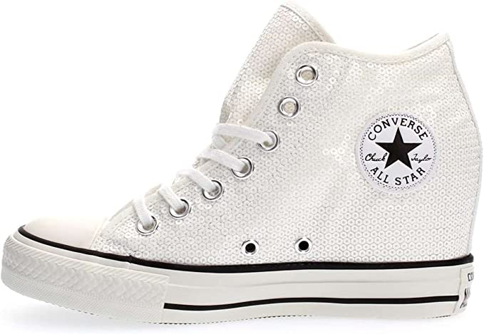 CONVERSE 556783C CT AS MID LUX SEQUINS BLACK SNEAKERS Donna BLACK ...