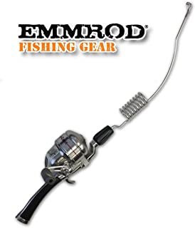 Emmrod 8 Coil Casting Rod Packer Combo - Black Handle Compact Fishing Pole & Reel