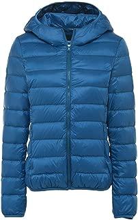Summer-lavender Multicolor Light Down Jacket Hooded Winter Coat Portable Parka Jackets with Carry Bag