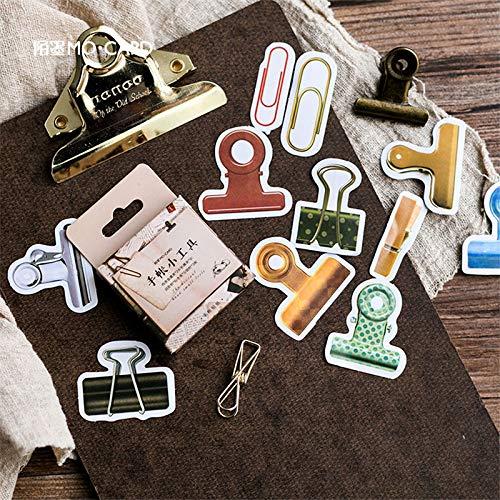 XXCKA Aufkleber Werkzeug Papier Label Life Log Dekoration DIY Scrapbooking Tagebuch Schreibwaren Aufkleber Supplie 45St