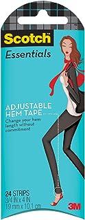 Scotch Essentials Adjustable Hem Tape, 24 Strips (W-106-A)
