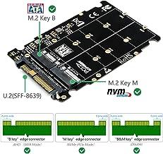 SUPERPLUS M.2 NVME SSD(Key M) Key B SSD to U.2 SFF-8639 Adapter