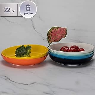 amHomel 6-Pack 22 Ounce Porcelain Salad Pasta Bowls