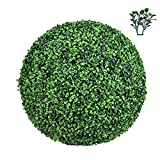 Hedge Maze Boxwood Ball Topiary, Pre-Assembly 1 Pc 19' Large Artificial Topiary Ball, Outdoor Indoor Artificial Greeney Plant Ball Round Topiary Boxwood Balls for Wedding Decor Home Decor