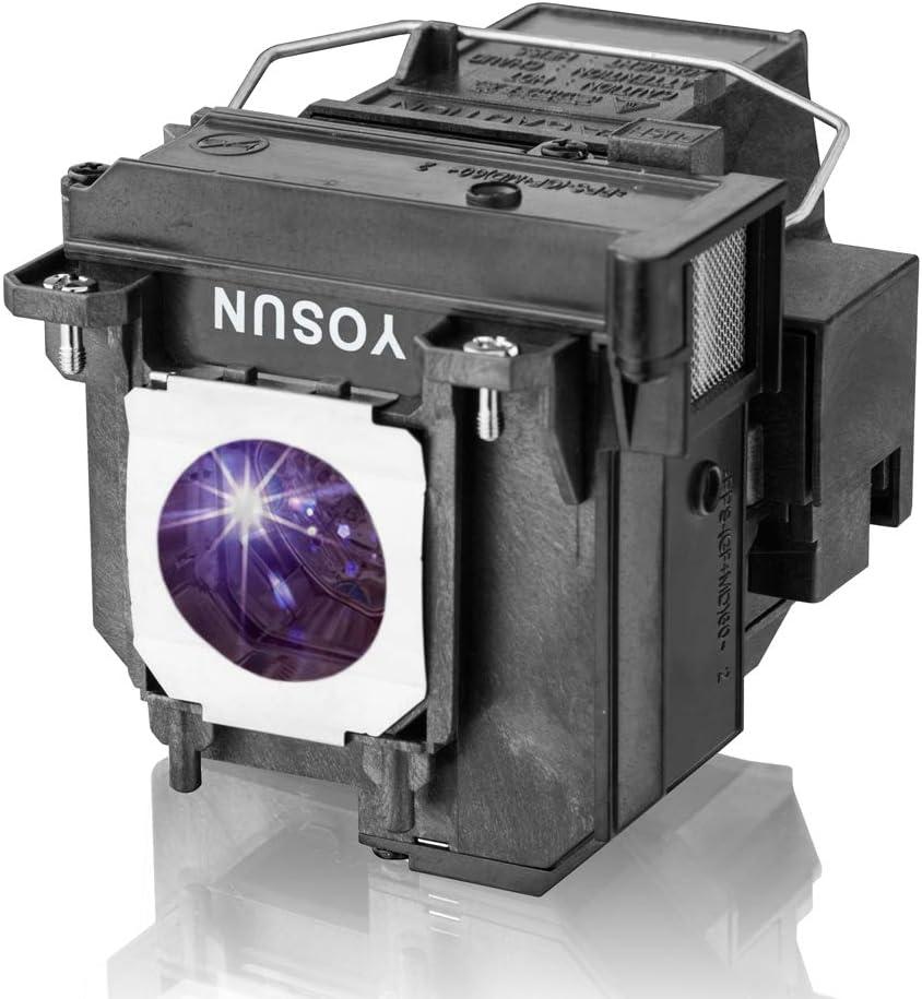 YOSUN Lámpara de proyector para Epson ELPLP71 V13H010L71 eb-470 eb-475w eb-475we eb-475wi eb-475wie eb-480 eb-480e eb-485w eb-485wi eb-485we eb-1400wi eb-1410wi Lámpara de proyector para