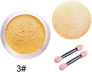 RUNGAO 1G/Box 4 Color Sexy Nail Mirror Powder Glitter Chrome Powder Polish Art DIY Decoration Rose Gold Purple Yellow+Sponge Stick 03#