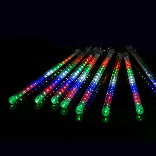TTLIFE 144 LED Meteor Shower Rain Lights, Raindrop led light 30cm 8 Tubes Cascading Lights