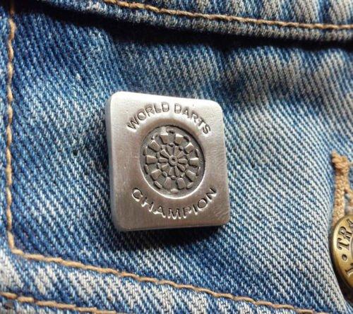 Stoneys Badges World Darts Champion Pewter Pin Badge Brooch Pewter Pin Badge Fun Dartboard Winning