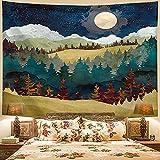 NHhuai Tapiz para Colgar en la Pared, Tapestry, Paisaje Dashan Sunset Decoración del hogar