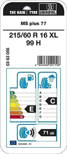 Uniroyal Ms Plus 77 Xl M S 215 60r16 99h Winterreifen Auto