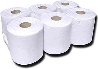 Handtuch-Papierrollen Innenabwicklung, Rollenpapier, Top-Handtuchrolle, Spiralkern 2-lagig 70% weiß 20cmx150m perforiert