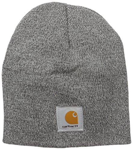 Carhartt Herren Acrylic Knit Hat Mütze, Heather Grey/Coal Heather, Einheitsgröße