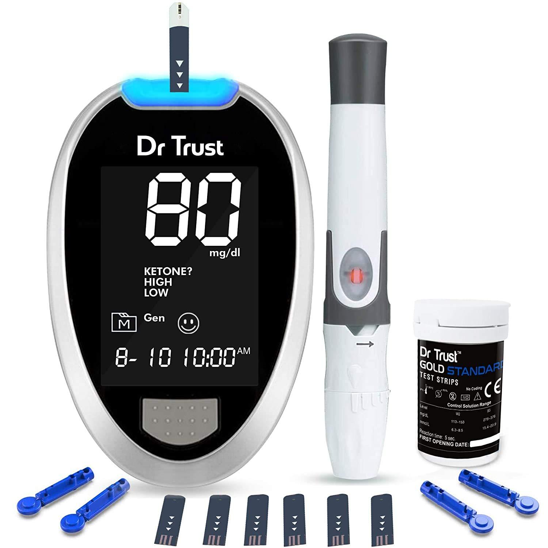 Dr. TrustFully Automatic Blood Sugar Testing Glucometer Machine