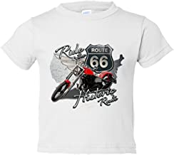 Camiseta niño Ride The Route 66 motero - Blanco, 5-6 años