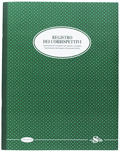 Semper SEF00070A Registro Corrispettivi per Mancato Funzionamento Registratore di Cassa, Verde