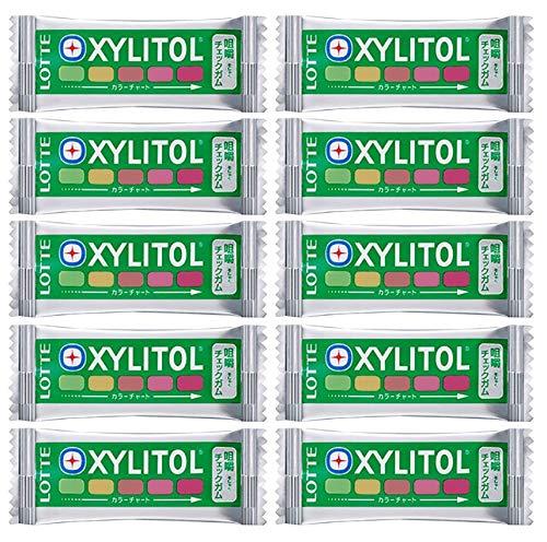 キシリトール 咀嚼チェックガム ミックスフルーツ味 ×10枚