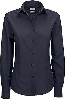 B&C Ladies Smart Long Sleeve Poplin Shirt/Ladies Shirts