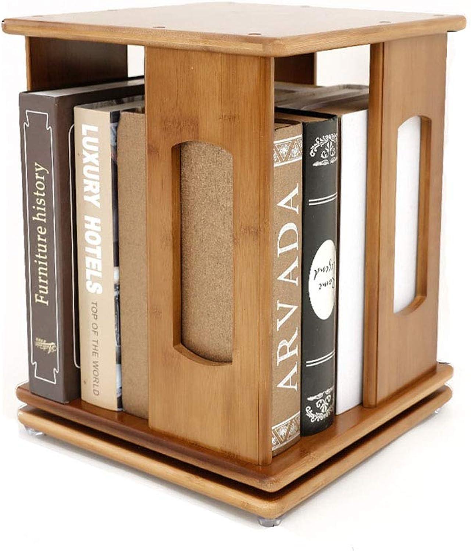 Bookshelves Desktop redating Bookshelf Simple Office Desk Shelf Storage Rack Student Bamboo Bookshelf bookcases Furniture (color   Brown, Size   33x33x39cm)