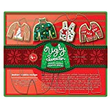Fox Run Ugly Christmas Sweater Cookie Cutter Set, 4-Piece, Stainless Steel