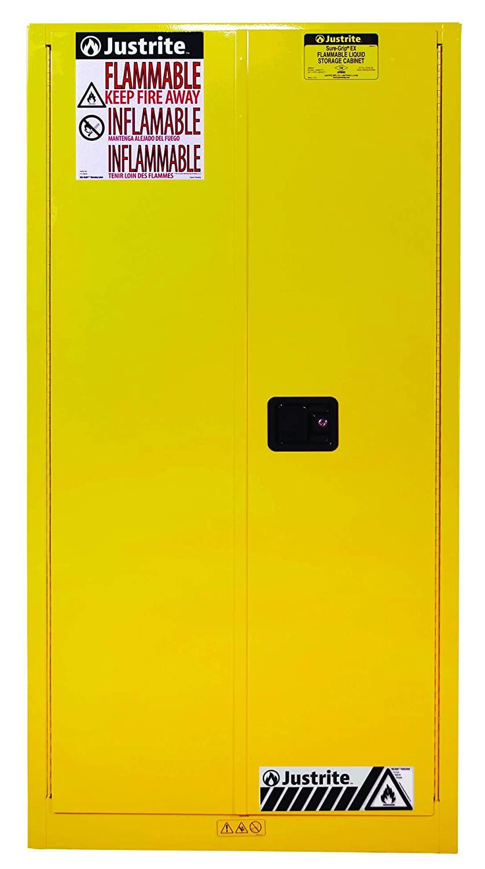Award-winning store Justrite 896020 Max 66% OFF Sure-Grip EX Flammable S Safety 2 Door Cabinet