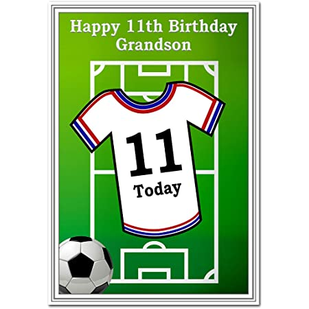 BOY PLAYING FOOTBALL Details about  / BIRTHDAY CARD FOR A SPECIAL GRANDSON WITH BADGE