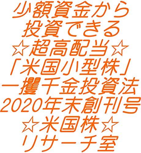 少額資金から投資できる☆超高配当☆「米国小型株」一攫千金投資法2020年末創刊号