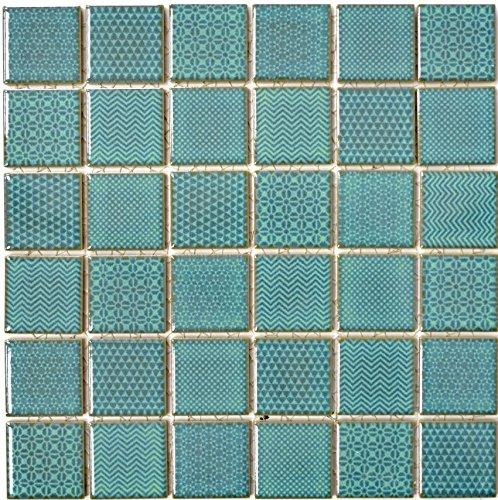Mosaik Fliese Keramik grün Celadon Heritage Emerald für WAND BAD WC DUSCHE KÜCHE FLIESENSPIEGEL THEKENVERKLEIDUNG BADEWANNENVERKLEIDUNG WB16-0602