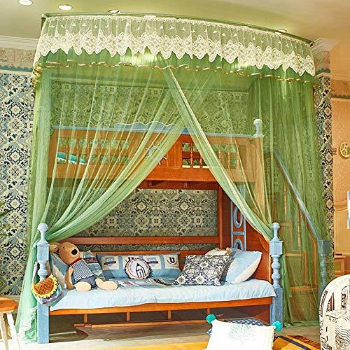 Mnjin Modedekoration Student Moskitonetze Etagenbett, doppelschichtige hohe und niedrige Pavillon-Jalousien Typ Regentropfen, 200-mal, 150-mal, 265 cm