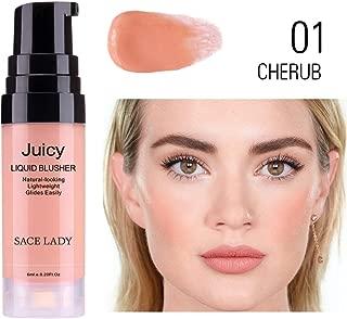 Ultra-Blendable Liquid Blusher, Lightweight Glides Easily Natural Looking Long Lasting Cheek Liquid Blush -6ml