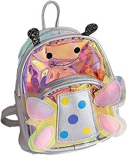 VIDOSCLA Laser Transparent Wave Point Preschool Bookbag Nursery Kids School Backpack Baby's Daypack