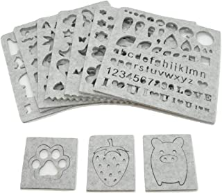 楽MoMo 羊毛 フェルト ひな形 10枚セット 手芸 ハンドクラフト DIY モールド アップリケ 金型
