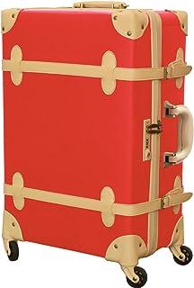 FIELDOOR TSAロック搭載 ヴィンテージ風 トラベルキャリーケース スーツケース Sサイズ/Mサイズ/Lサイズ 四輪 超軽量 アンティーク調内装 おしゃれ