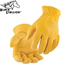 Black Stallion 17T Elkskin Thinsulate Lined Winter Driver's Gloves, La