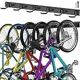 TORACK Fahrrad-Aufbewahrungshaken mit 6 Haken für die Wandmontage, Garage, Organizer, verstellbare Fahrradaufbewahrung, vertikale Fahrradaufhängung für Zuhause, platzsparend, bis zu 180 kg