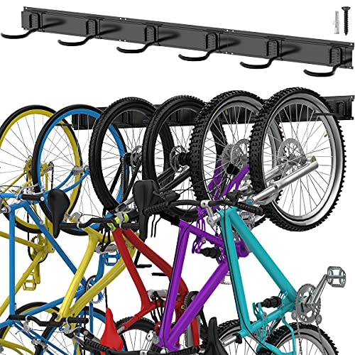 TORACK Bike Storage Rack, 6 Bike Rack Wall Mount...