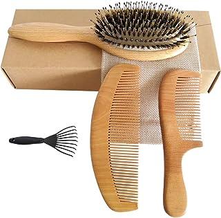 موی بران موی بری با ترکیب طبیعی طبیعی و هلو چوب برنزه بر روی پوست بدن ماسک مو برای مردان و زنان موی متوسط و ضخیم 3 عدد