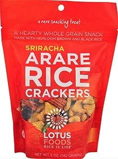 Lotus Foods Gourmet Gluten Free Arare Rice Crackers, Sriracha, 8 Count