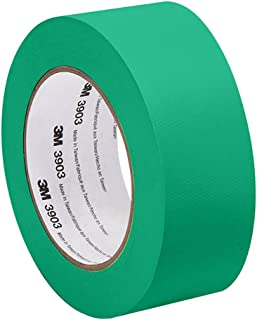 3M Green Vinyl/Rubber Adhesive Duct Tape 3903, 2-50-3903-GREEN 12.6 psi Tensile Strength, 50 yd. Length, 2