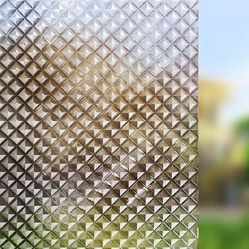 N / A Gitterglasfolie, statische Isolierung, Nicht klebend, Blendungsreduzierung, Wärmeisolierung, entfernbare und Wiederverwendbare Fensterdekorfolie in Mehreren Größen A13 45x200 cm