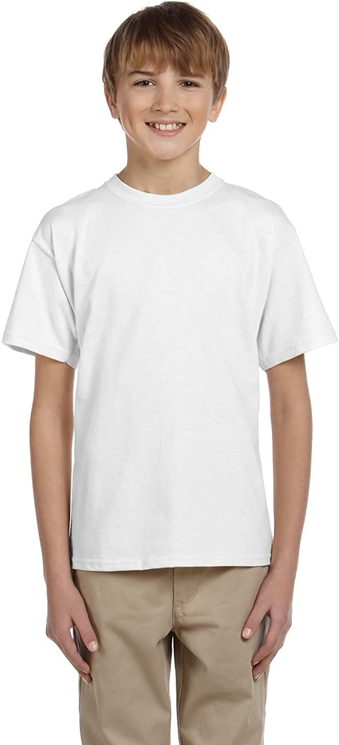 By Hanes Youth 52 Oz, 50/50 EcoSmart T-Shirt - White - XL - (Style # 5370 - Original Label)