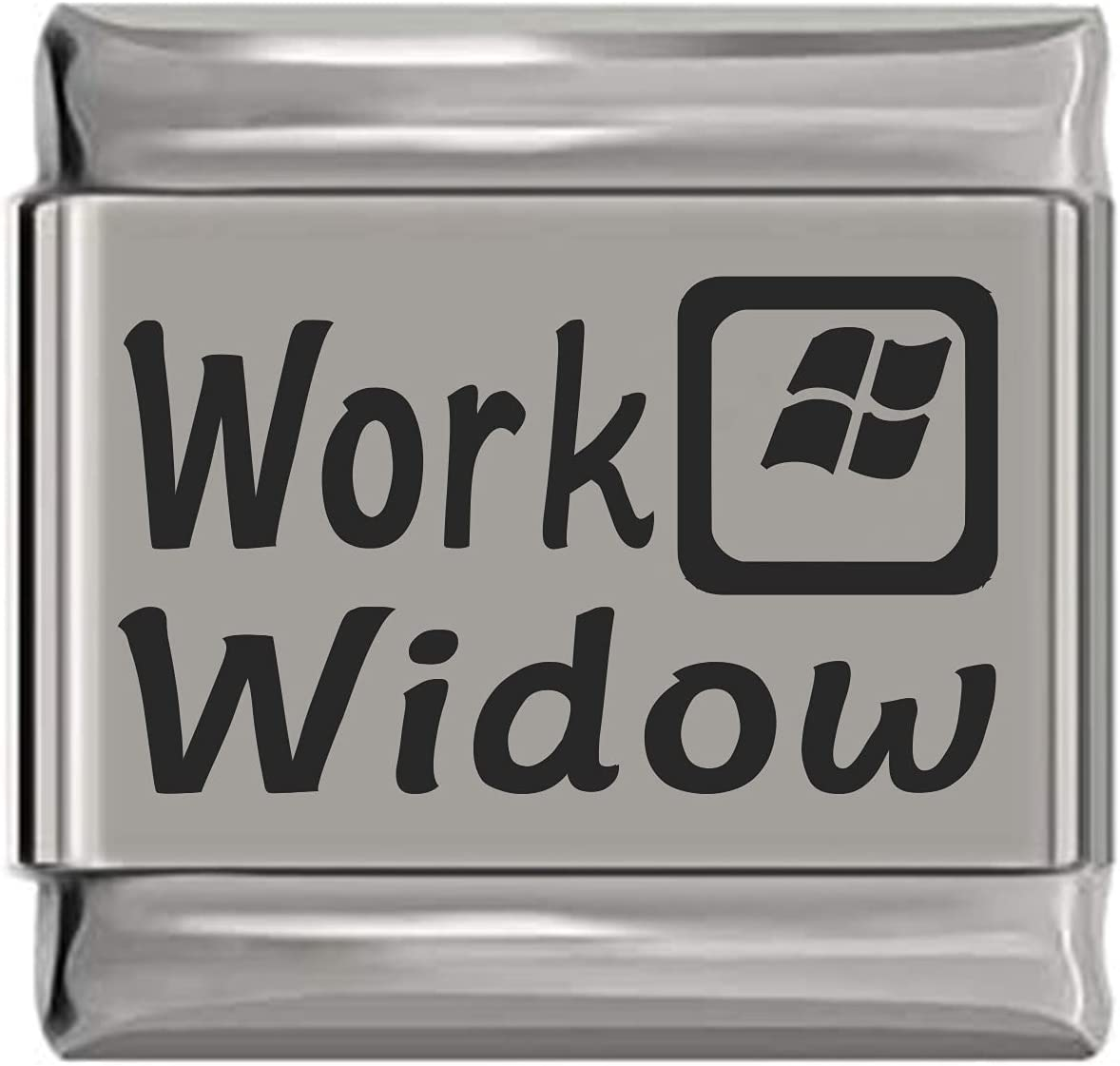 Work Max 58% OFF Widow Laser Italian Factory outlet Charm Engraved