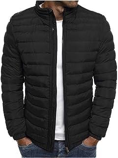 معطف سوليد جاكت رجالي، كم طويل رجالي، سحاب، خفيف الوزن، يمنح الدفء، رداء خارجي، متين للشتاء.