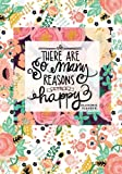Academic Planner 2017-2018: Floral Weekly & Monthly Schedule Diary At A Glance | Get Things Done At School, College, Home, Work | Planner Calendar | ... | Soft Back Cover (Organization) (Volume 15)