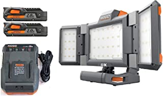 Ridgid Gen5x 18 Volt Hybrid Panel Work Light R8694221b + (2) R840086 Batteries & R86092 Charger