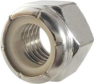 100 Pack #8-32 Coarse Thread Nyloc NTM Thin Zinc Plated Nylon Insert Locknut