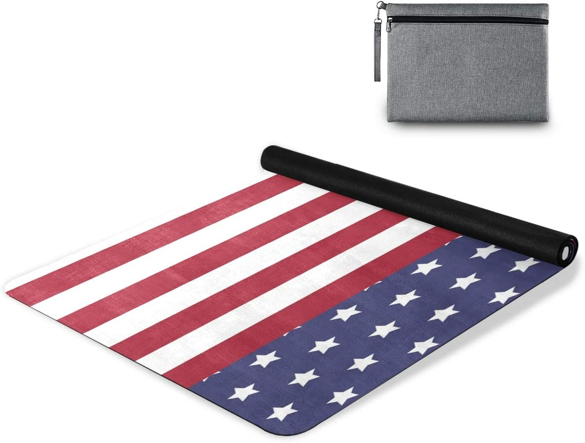 OREZI Miami Mall Stars and Striped American 4Th Towels Large special price of Yoga Abs Mat July