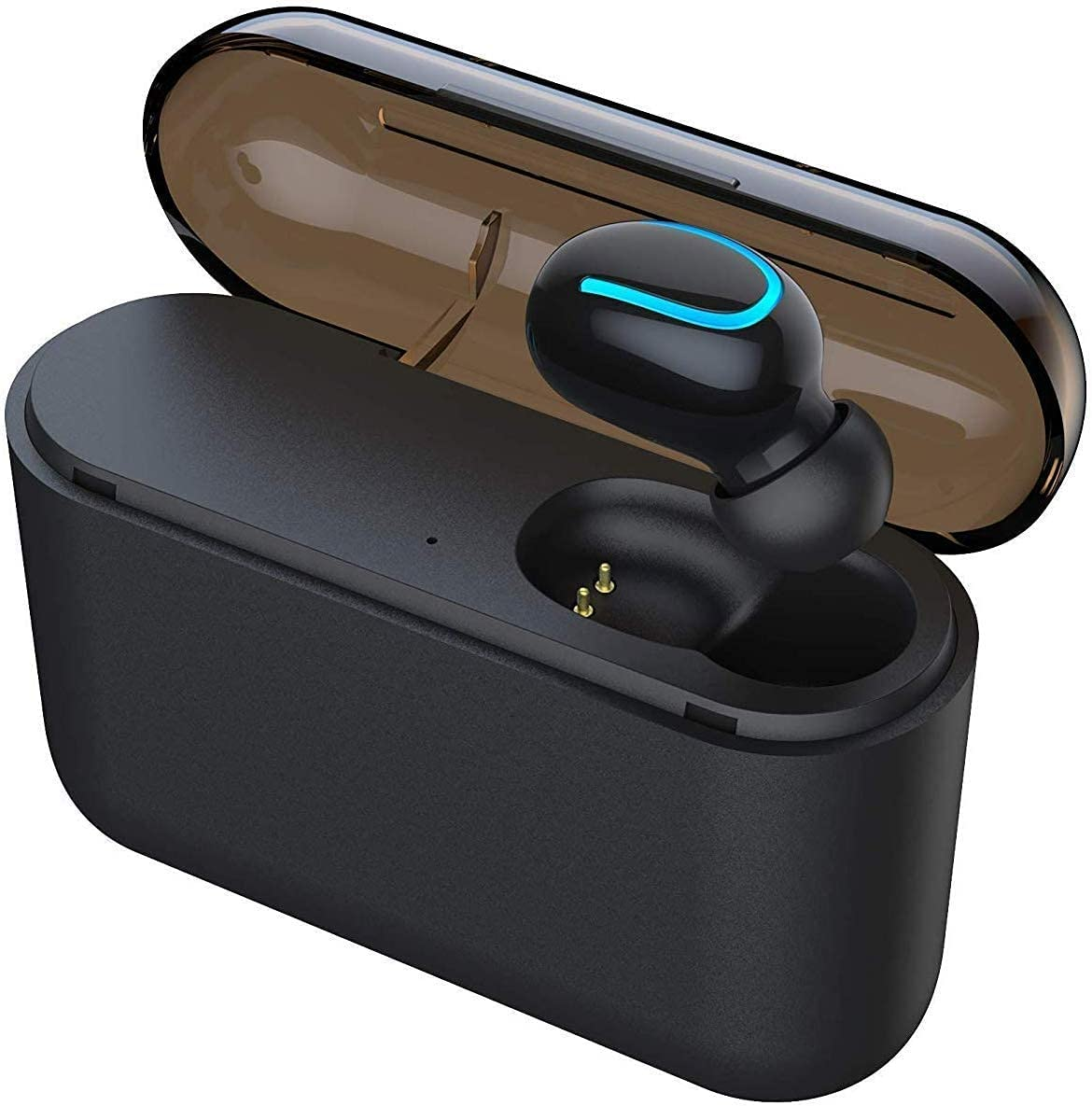 HaoTuo Mini Bluetooth Music Earbud Smallest Wireless Invisible Headphone with 5 Hour Playtime Car Headset for iPhone and Android Smart Phones(Single)