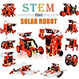 Education STEM 12-in-1 Solar Robot Kit Toys, DIY Learning Building Science Experiment Kit for Kids Aged 8-10 Boys and Girls